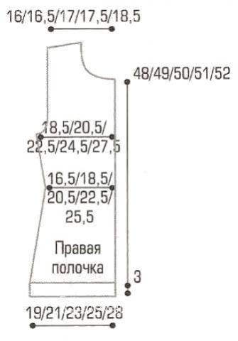 Схема вязания жакет в полоску с контрастной планкой раздел вязание спицами для женщин кофты спицами женские