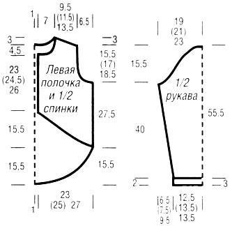 Схема вязания жакет в серо-желтом цвете с капюшоном раздел вязание спицами для женщин кофты спицами женские