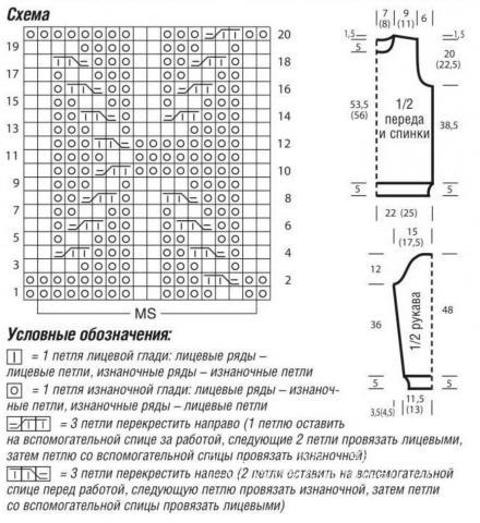 Схема вязания жаккардовый джемпер с ромбами раздел вязание спицами для женщин кофты спицами женские