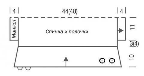 Схема вязания болеро для малышки с коротким рукавом раздел для детей болеро (накидки) для детей