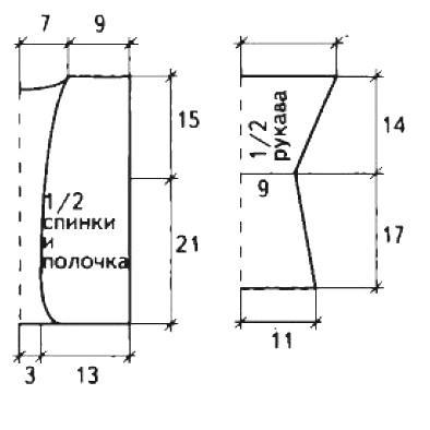 Схема вязания детское болеро с закругленными полочками и повязка раздел для детей болеро (накидки) для детей