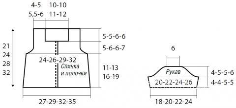 Схема вязания жакет для девочки с коротким рукавом раздел для детей болеро (накидки) для детей