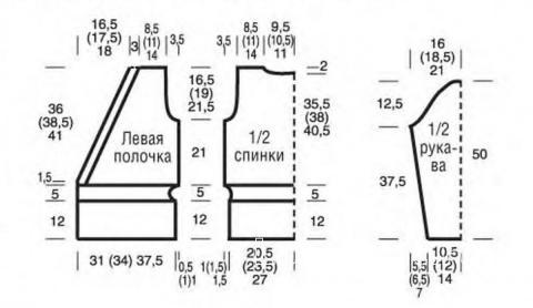 Схема вязания ажурный кардиган с поясом раздел вязание спицами для женщин жакеты спицами