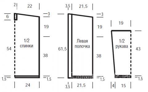 Схема вязания ажурный кардиган без застежек раздел вязание спицами для женщин жакеты спицами