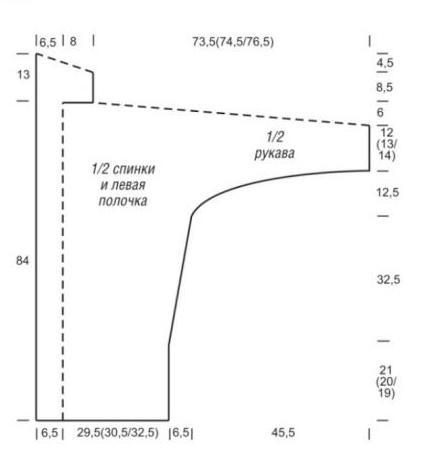 Схема вязания безразмерный кардиган без застежек раздел вязание спицами для женщин жакеты спицами