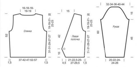 Схема вязания цветной жакет на пуговицах раздел вязание спицами для женщин жакеты спицами