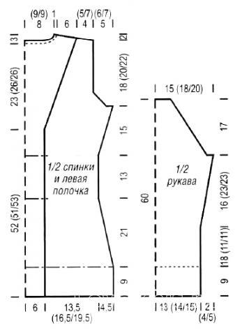 Схема вязания длинный жакет с поясом раздел вязание спицами для женщин жакеты спицами