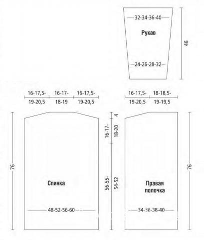 Схема вязания длинный жакет с рельефным рисунком раздел вязание спицами для женщин жакеты спицами