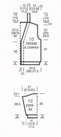 Схема вязания кардиган оверсайз на пуговицах раздел вязание спицами для женщин жакеты спицами