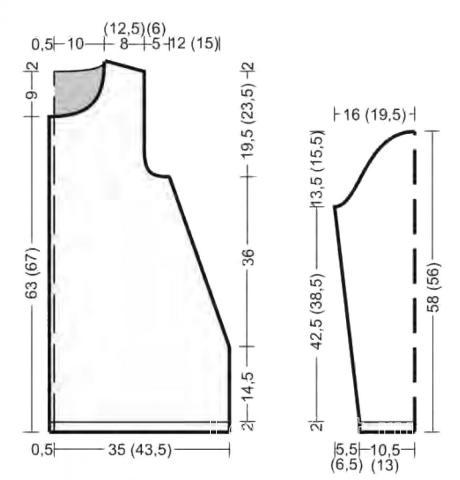 Схема вязания удлиненный ажурный кардиган с шишечками раздел вязание спицами для женщин жакеты спицами