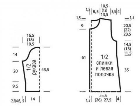 Схема вязания удлиненный цветной жакет с бахромой раздел вязание спицами для женщин жакеты спицами