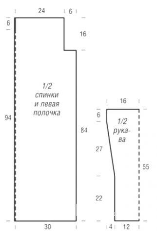 Схема вязания удлиненный кардиган с ажурным узором раздел вязание спицами для женщин жакеты спицами