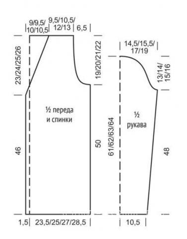 Схема вязания удлиненный кардиган с ажурными рукавами раздел вязание спицами для женщин жакеты спицами