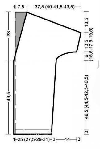 Схема вязания удлиненный кардиган без застежек с рукавом 3/4 раздел вязание спицами для женщин жакеты спицами