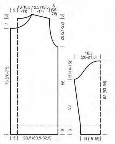 Схема вязания удлиненный полосатый кардиган раздел вязание спицами для женщин жакеты спицами
