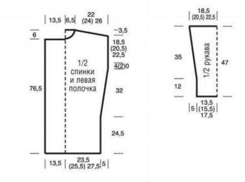 Схема вязания удлиненный розовый кардиган без застежки раздел вязание спицами для женщин жакеты спицами