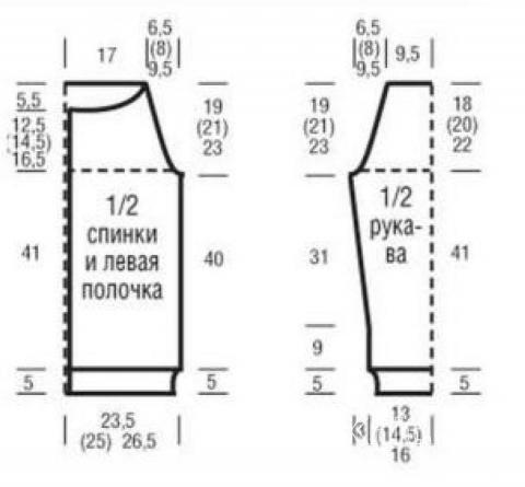 Схема вязания удлиненный узорчатый кардиган на пуговицах раздел вязание спицами для женщин жакеты спицами
