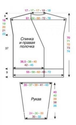 Схема вязания удлиненный жакет с запахом раздел вязание спицами для женщин жакеты спицами