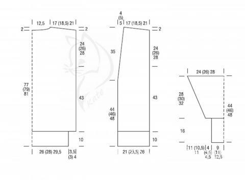 Схема вязания удлиненный жакет без застежки раздел вязание спицами для женщин жакеты спицами