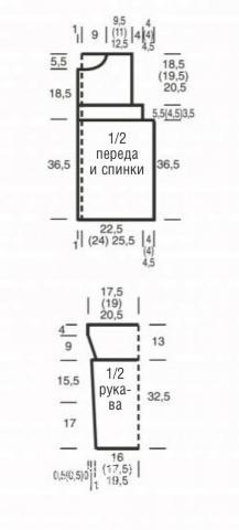 Схема вязания удлиненный жакет с жемчужным узором без застежек раздел вязание спицами для женщин жакеты спицами