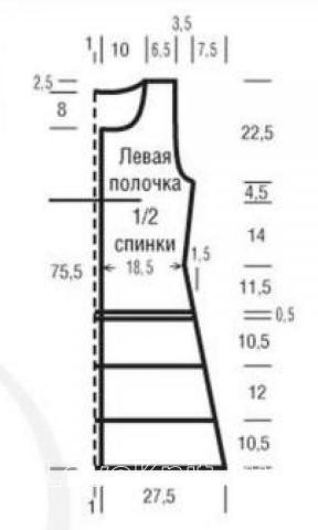 Схема вязания удлиненный жилет с узором зигзаг раздел вязание спицами для женщин жакеты спицами