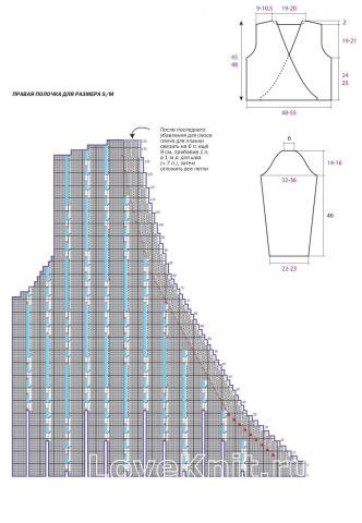 Схема вязания укороченный жакет с запахом раздел вязание спицами для женщин жакеты спицами