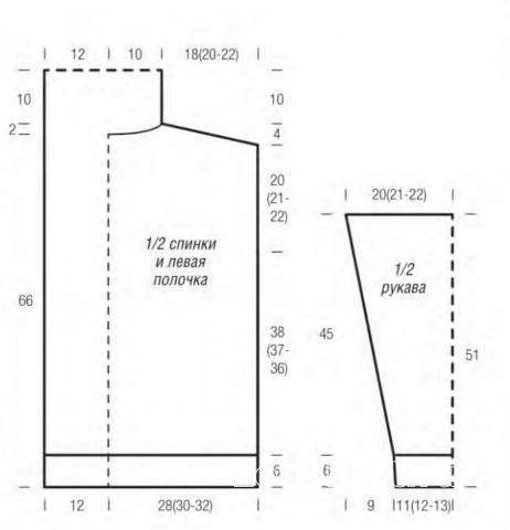 Схема вязания уютный кардиган в полоску без застежек раздел вязание спицами для женщин жакеты спицами