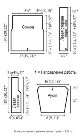Схема вязания жакет с диагональной полоской раздел вязание спицами для женщин жакеты спицами