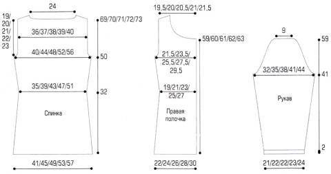 Схема вязания жакет с ложными карманами раздел вязание спицами для женщин жакеты спицами