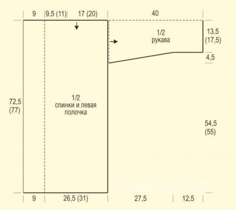 Схема вязания ажурный длинный кардиган в сеточку раздел вязание крючком для женщин жакеты крючком