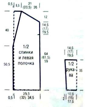 Схема вязания полосатый удлиненный кардиган с карманами раздел вязание крючком для женщин жакеты крючком