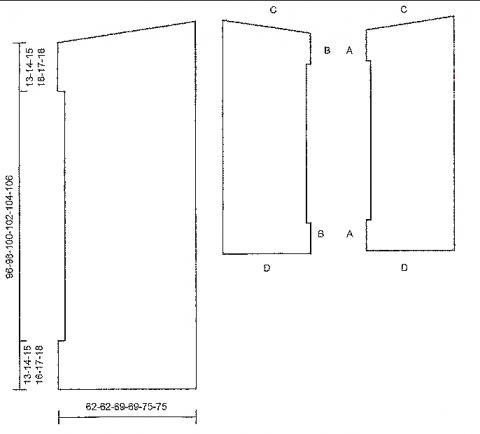 Схема вязания безразмерный ажурный жилет раздел вязание спицами для женщин жилеты для женщин