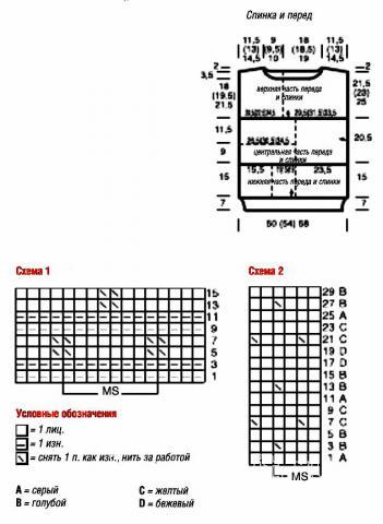 Схема вязания безрукавка пэчворк раздел вязание спицами для женщин жилеты для женщин