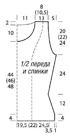 Схема вязания безрукавка и шапка с цветами раздел вязание спицами для женщин жилеты для женщин