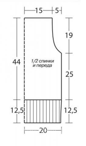 Схема вязания безрукавка в полоску с оборками раздел вязание спицами для женщин жилеты для женщин