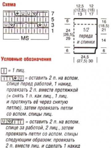Схема вязания цветная безрукавка с узором раздел вязание спицами для женщин жилеты для женщин