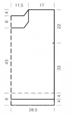 Схема вязания цветная безрукавка с волнистым узором раздел вязание спицами для женщин жилеты для женщин