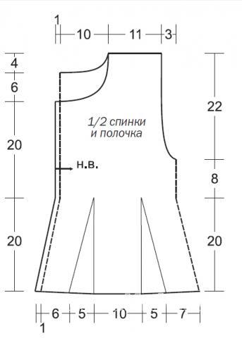 Схема вязания цветной жилет с переплетениями  раздел вязание спицами для женщин жилеты для женщин