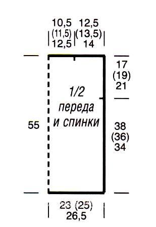 Схема вязания цветной жилет с узором из зигзагов раздел вязание спицами для женщин жилеты для женщин
