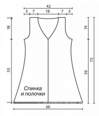 Схема вязания длинный узорчатый жилет раздел вязание спицами для женщин жилеты для женщин