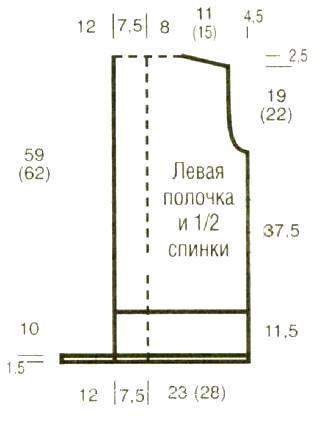 Схема вязания длинный жилет с бахромоой раздел вязание спицами для женщин жилеты для женщин