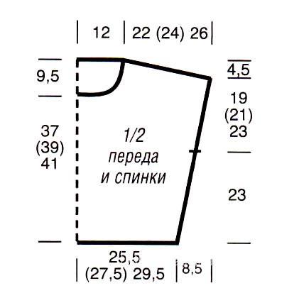 Схема вязания короткая полосатая безрукавка раздел вязание спицами для женщин жилеты для женщин