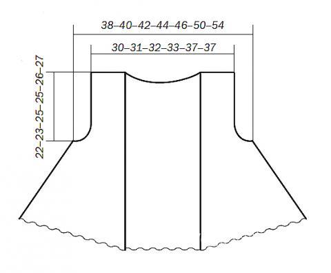 Схема вязания короткий жилет с асимметричной длиной раздел вязание спицами для женщин жилеты для женщин