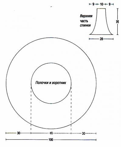 Схема вязания круглый жилет раздел вязание спицами для женщин жилеты для женщин