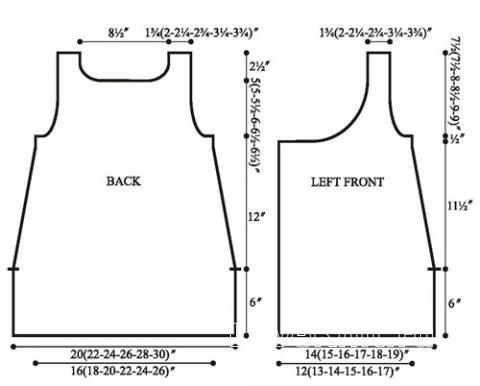 Схема вязания меланжевый жилет с запахом раздел вязание спицами для женщин жилеты для женщин