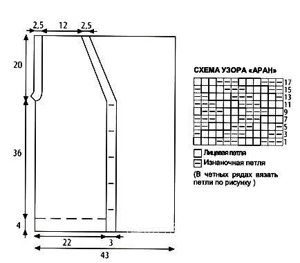 Схема вязания мужской жилет на пуговицах раздел вязание спицами для женщин жилеты для женщин