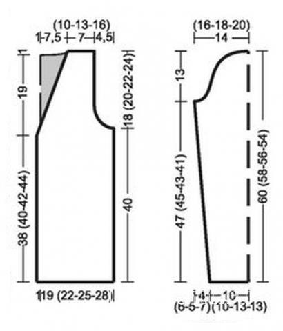Схема вязания пушистый жакет с двойным воротничком раздел вязание спицами для женщин жилеты для женщин
