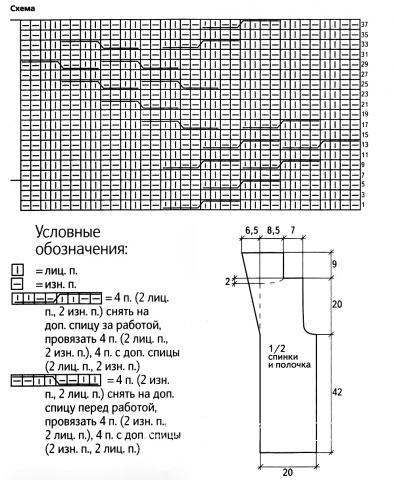 Схема вязания серый жилет с поясом раздел вязание спицами для женщин жилеты для женщин