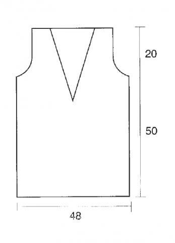 Схема вязания удлиненная безрукавка с ажурным воротником раздел вязание спицами для женщин жилеты для женщин