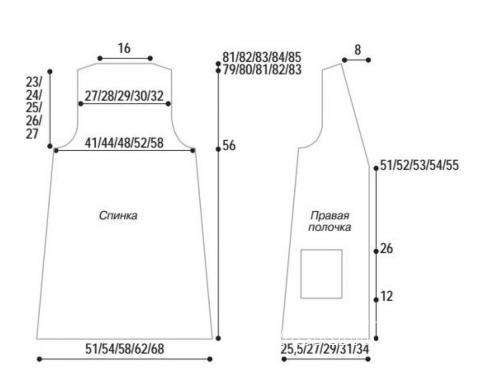 Схема вязания удлиненный меховой жилет с карманами раздел вязание спицами для женщин жилеты для женщин